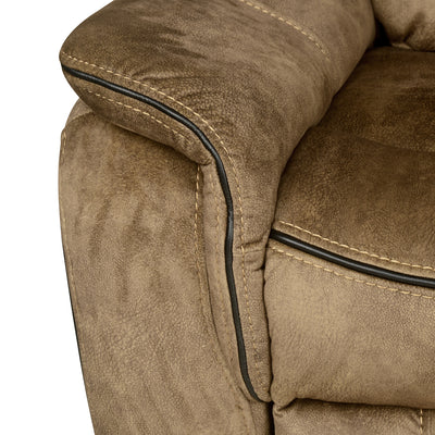Iris 1 Seater Sofa with Manual Recliner (Tuscan Brown)