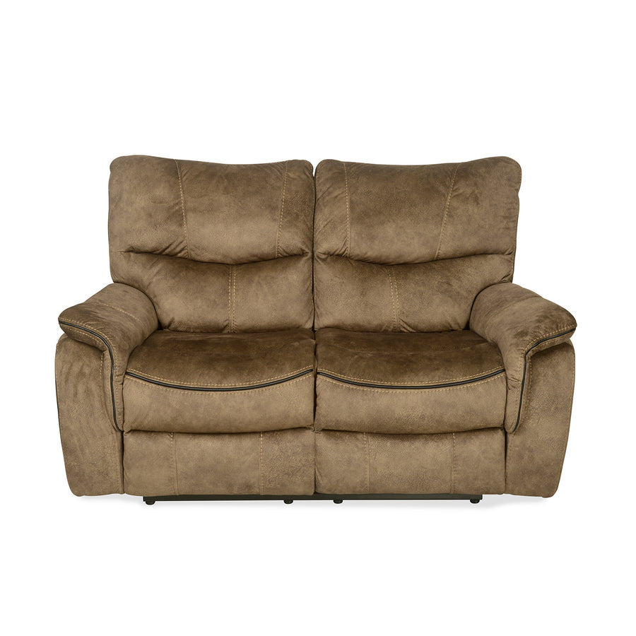 Iris 2 Seater Sofa with Manual Recliner (Tuscan Brown)