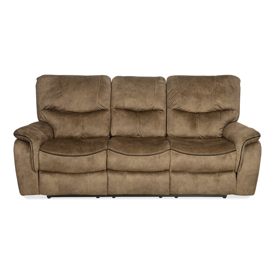 Iris 3 Seater Sofa with Manual Recliner (Tuscan Brown)