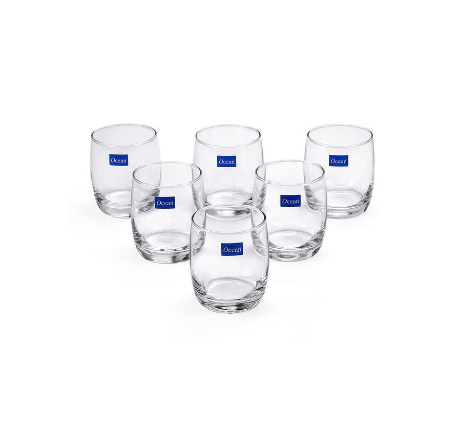Ivory Rock Water Glass Set Of 6 (Clear)