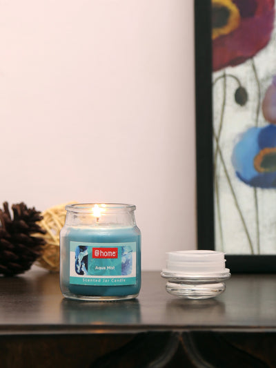 Aqua Mist Jar Candles Set of 2 (Sea Green)