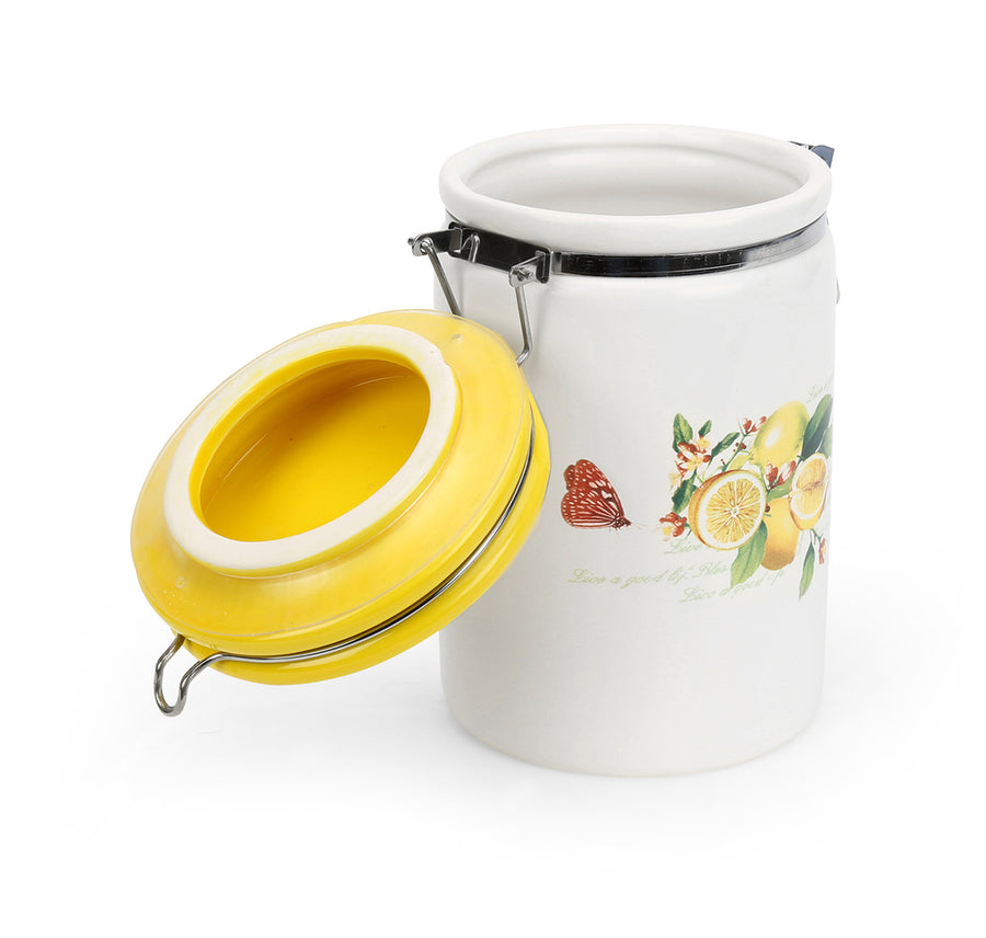 Large Ceramic Jar (Yellow)
