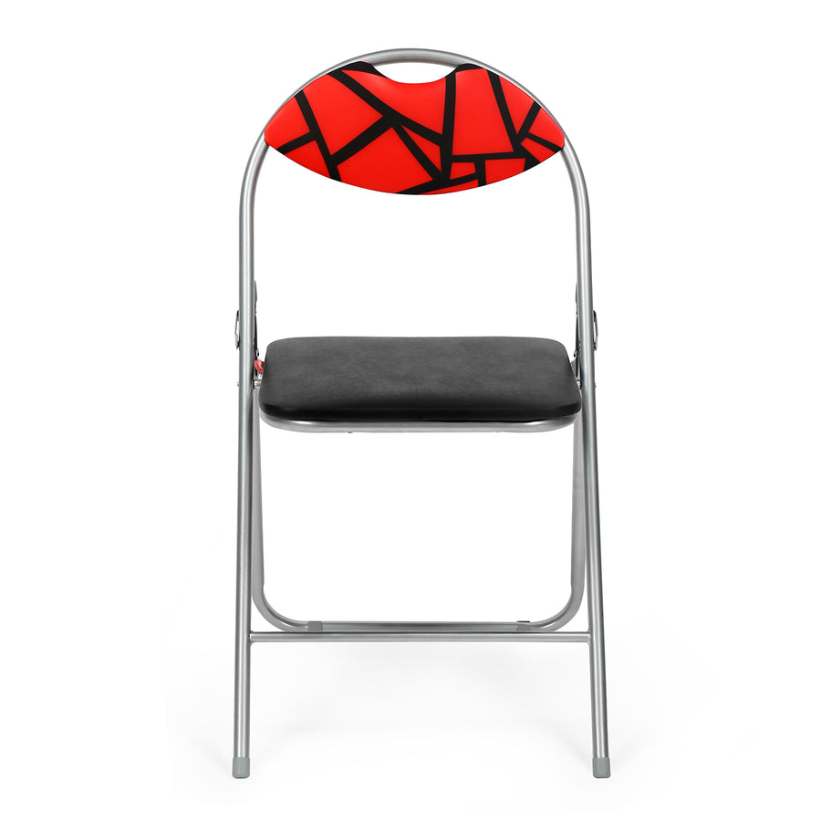 Jax Foldable Chair (Red and Black)