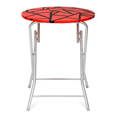 Jax Foldable Round Table (Red and Black)