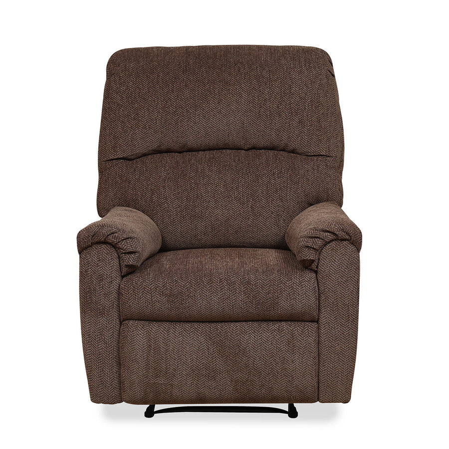 Jayden 1 Seater Sofa with 1 Manual Recliner (Walnut)