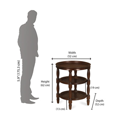 Joben Pedestal Table (Espresso)