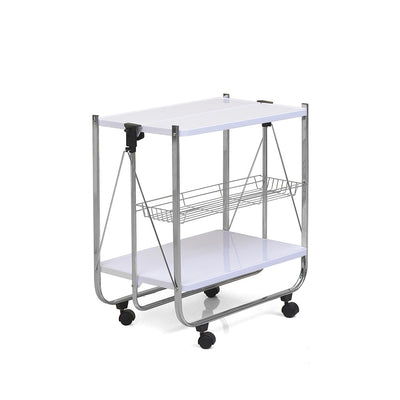 Keev Folding Serving Cart (White)
