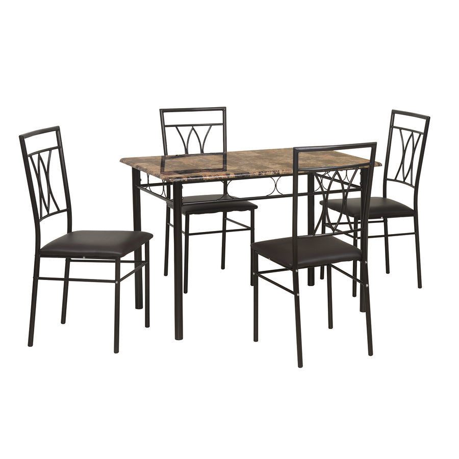 Kimmy Four Seater Dining Set (Chocolate)