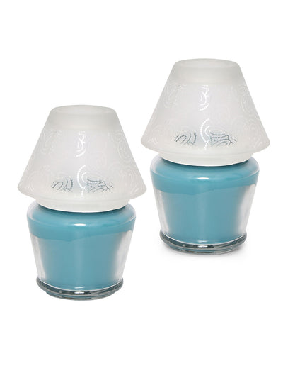 Aqua Mist Lamp Candle Set (Sea Green)