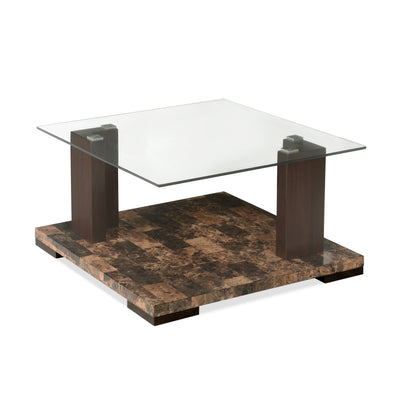 Lana Center Table with Glass top (Dark Walnut)