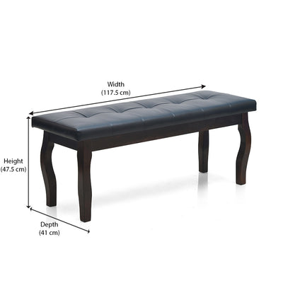 Larissa Bench With Cushion (Coffee)