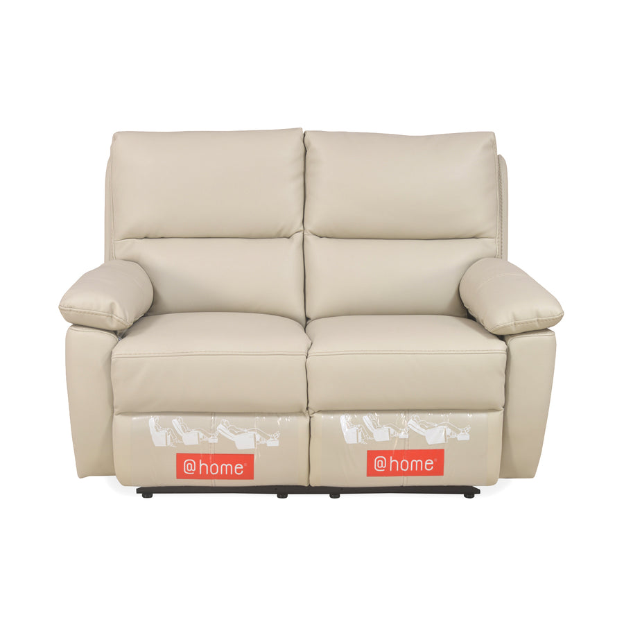 Leslie 2 Seater Sofa Manual Recliner (Cream)