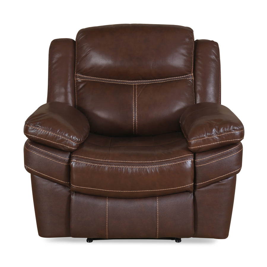 Lexus 1 Seater Sofa with Electric Recliner (Mocha Chocolate)