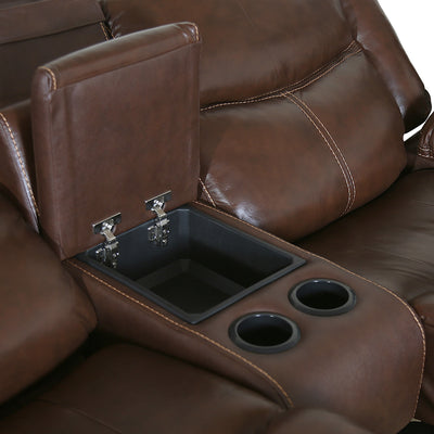 Lexus Two Seater Electric Recliner (Mocha Chocolate)
