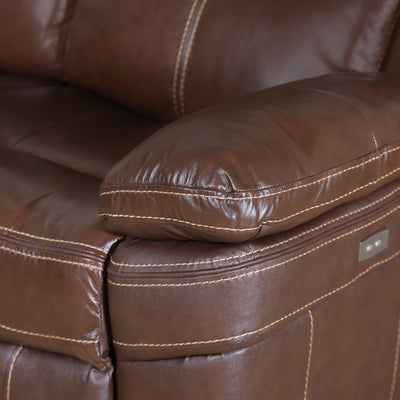 Lexus 3 Seater Electric Recliner (Mocha Chocolate)