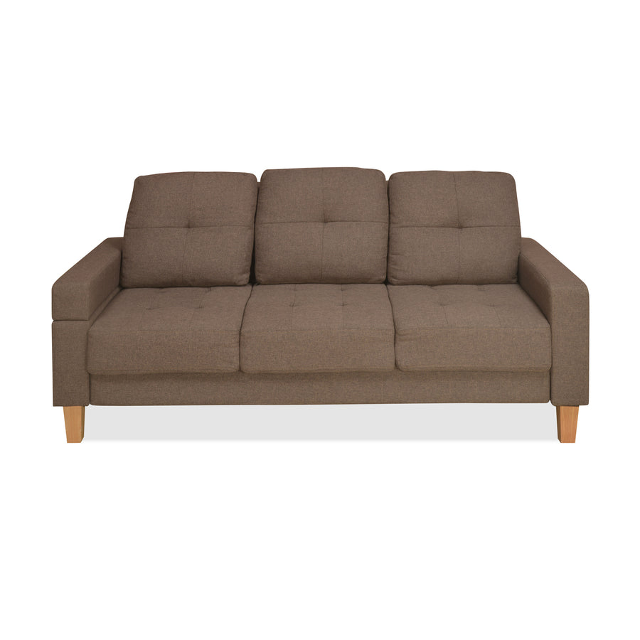 Liliana 3 Seater Sofa cum Bed (Brown)