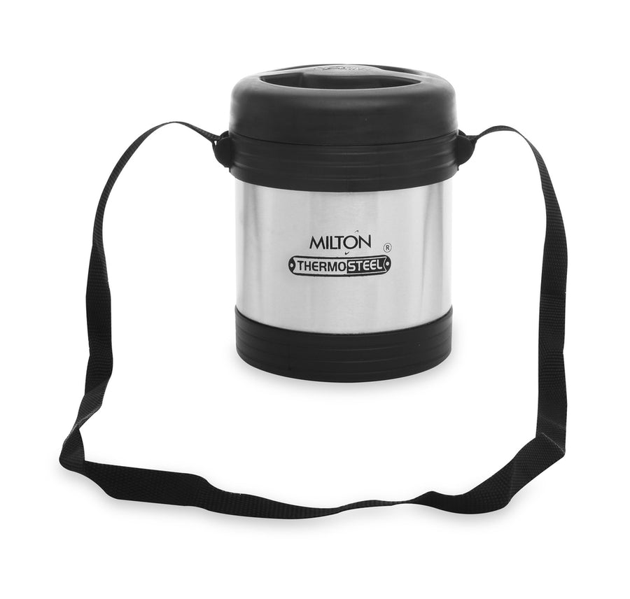 Milton Legend Lunch Box Pack of 3 (Black & Silver)