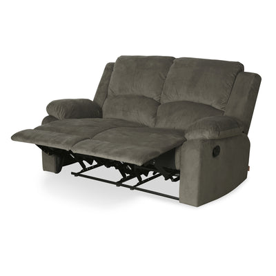 Luxury 2 Seater Sofa with 2 Manual Recliners (Coffee Brown)