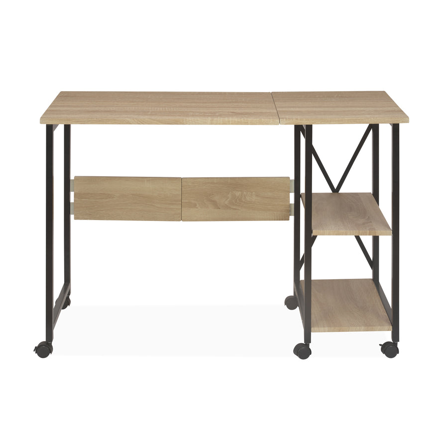 Lyon Folding Study Table (Light Oak)