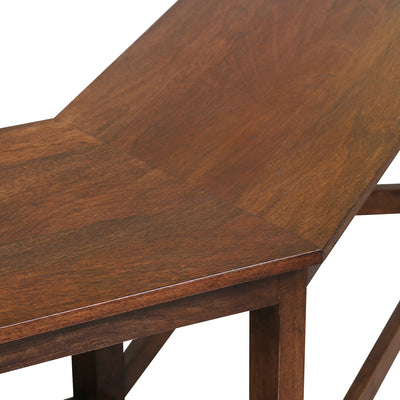 Malibu Two Seater Dining Bench (Walnut)