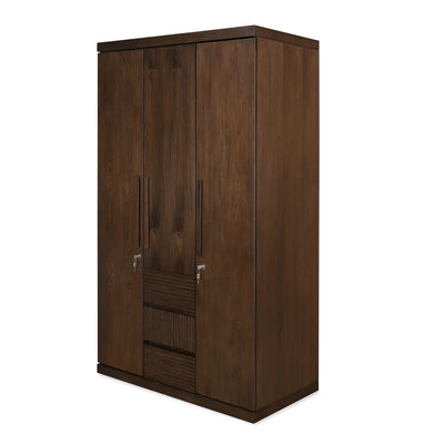 Marathon Three Door Wardrobe (Walnut)