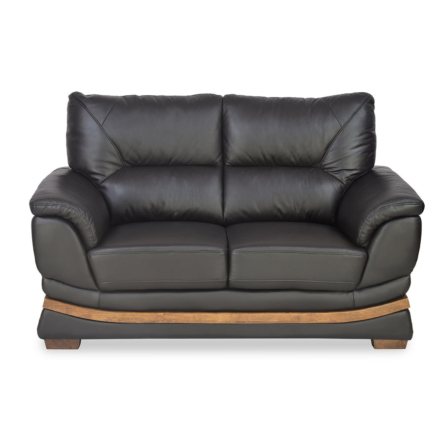 Markos Two Seater Sofa (Dark Brown)