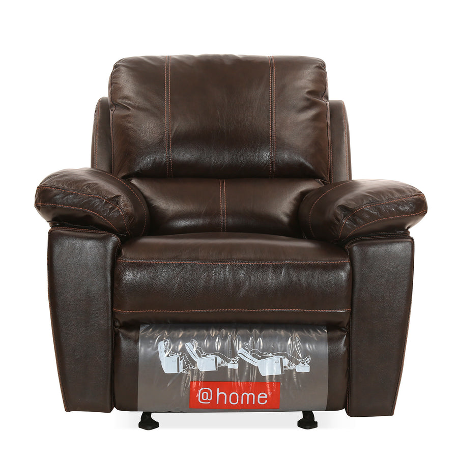 Marshall 1 Seater Sofa with Manual Rocker Reclinear (Russet Brown)