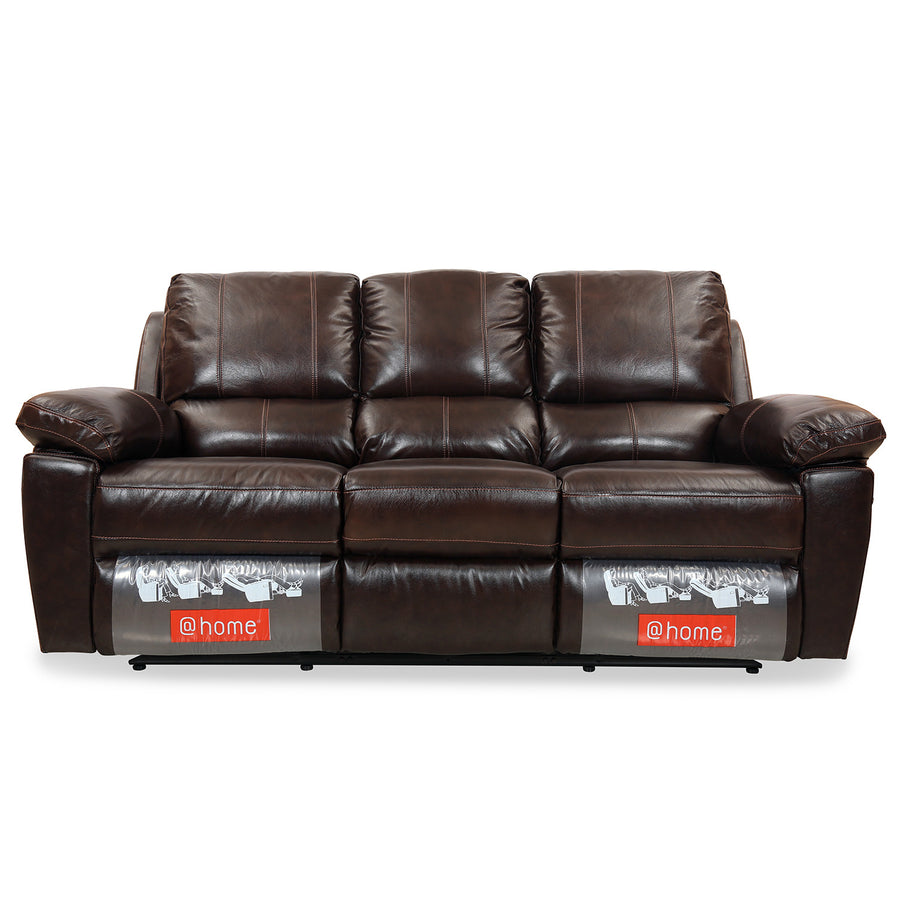 Marshall 3 Seater Sofa with 2 Manual Recliners (Russet Brown)