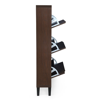 Martin Three Tier Shoe Cabinet (Walnut)