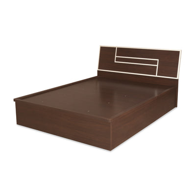 Maverick Queen Bed With Storage (Walnut)