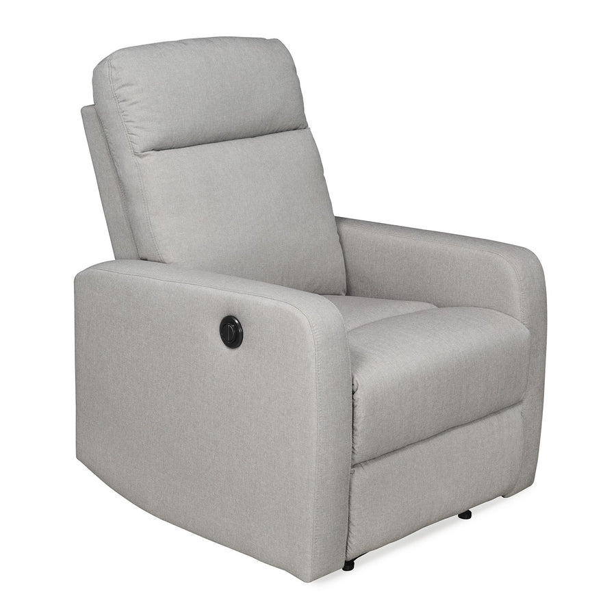 Mayfair 1 Seater Sofa with Electric Recliner (Light grey)