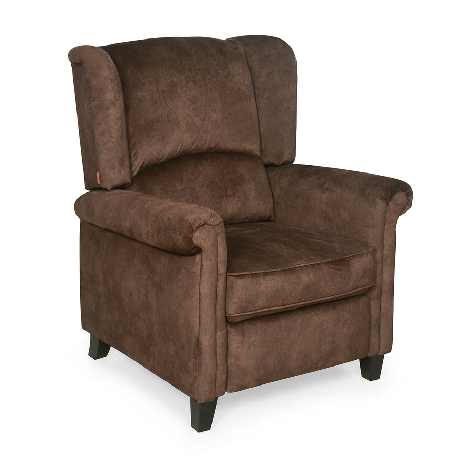 Mayor 1 Seater Sofa with Manual Recliner (Chocolate)