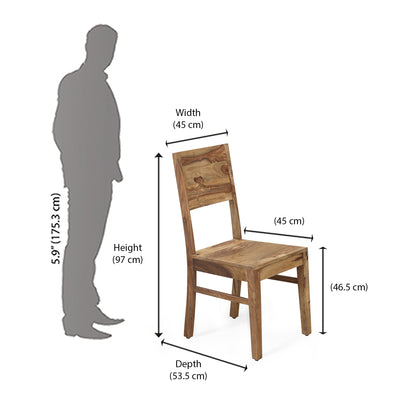 Miracle Dining Chair (Natural Walnut)