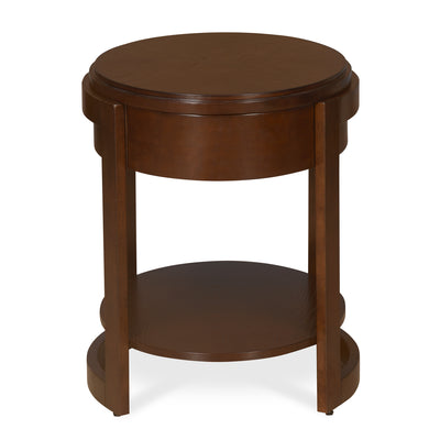 Miranda Pedestal Table (Espresso)