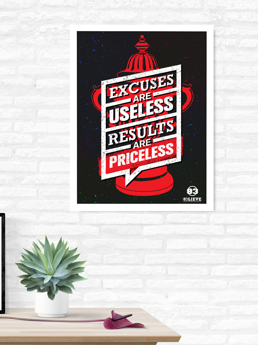 """83"" Priceless Printed 40 cm x 60 cm Painting (Red)"