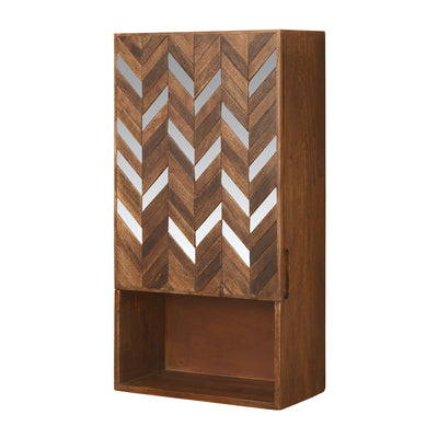 Monah Vertical Wall Cabinet (Walnut)