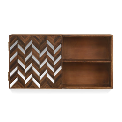 Monah Horizontal Wall Cabinet (Walnut)