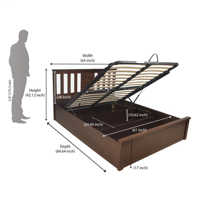 Montreal Queen Bed With Storage (Espresso)