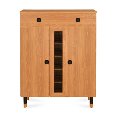 Morvin Medium Shoe Cabinet with Drawer (Teak)