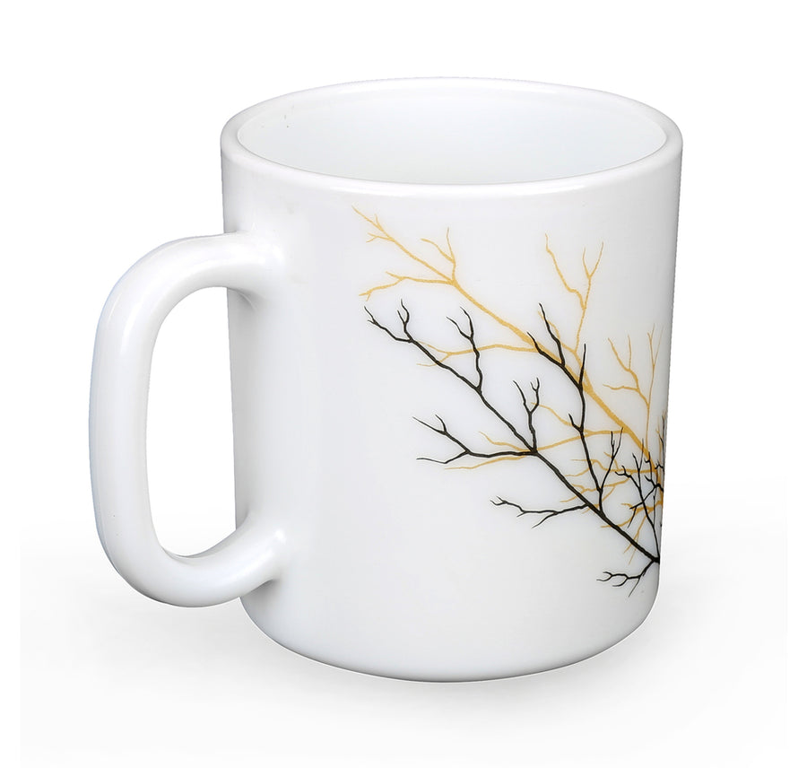 Golden Fall Set Of 2 220 ml Mug (Multicolor)