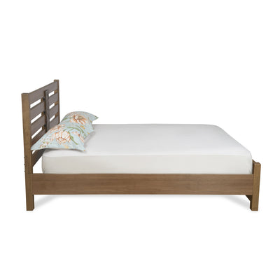 Nation Queen Bed Without Storage  (Walnut)
