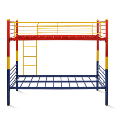 Nemo Bunk Bed without Storage (Red, Yellow & Blue)