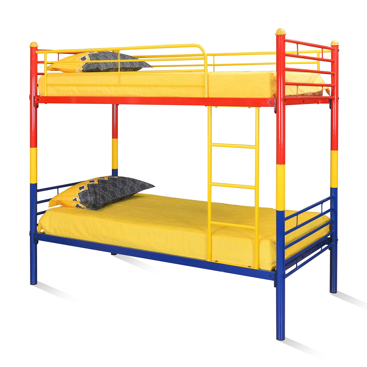 Picture of: Nemo Bunk Bed Without Storage Red Yellow Blue Nilkamal At Home Home