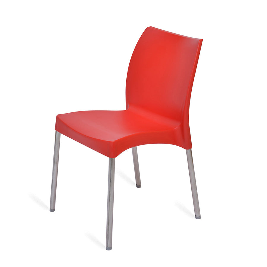 Nilkamal Novella 07 Plastic Chair (Red)