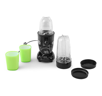 Wonderchef Nutri Blend with Free Serving Glass Set 6 pieces (Black)