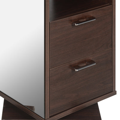 Olson Dresser With Mirror and Rotating (Walnut)
