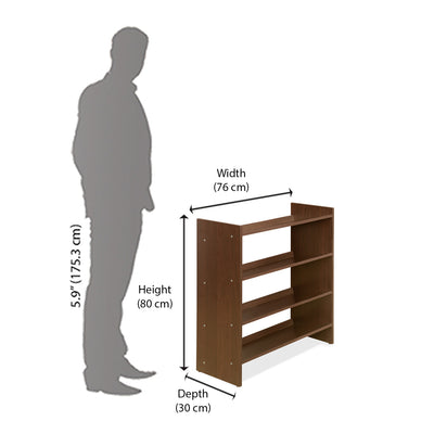 Owen Shoe Rack (Dark Walnut)