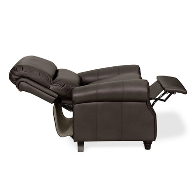 Paige 1 Seater Sofa with Manual Recliner (Chocolate)