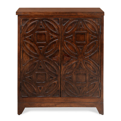 Paisley 2 Door Cabinet (Honey Walnut)