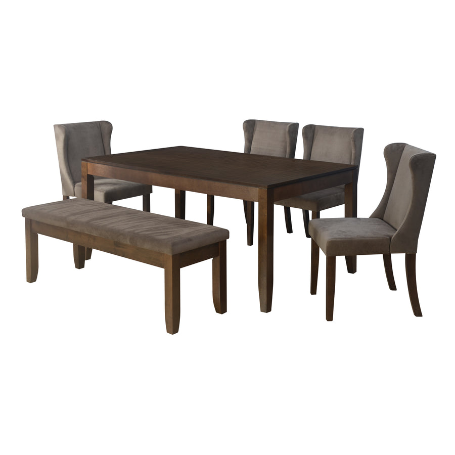 Pandora 1+ 4+ Bench Dining Kit (Walnut)